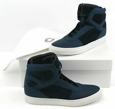 Cipher Sentient Men's Nappa Leather/Padded Suede Trainers Sneakers UK 8 - Marine