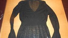 MORE & MORE Pullover -SHIRT-Gr-L 42 ,schwarz, durchsichtig NEU