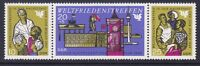 Germany DDR 1118a MNH OG 1969 Worker Protecting Children Strip of 3 Very Fine