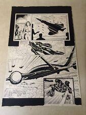 X-O MANOWAR #4 original art RAGE ARMOR, ACTION, HALF SPLASH, 1997, CHEN, VALIANT