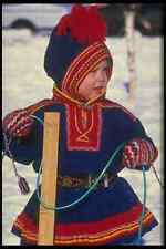 651096 Saami Boy Practicing suohpan Casting A4 Photo Print