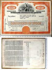 Common Stock del 1956 da 25 shares - Sunray Oil e D-X Gasoline - Delawere