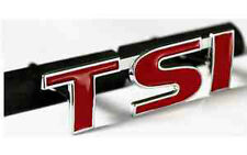 TSI Grill Badge Emblem VW Volkswagen Golf Scirocco Polo Passat Beetle Red 2g
