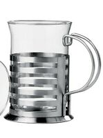 Premier Housewares Sirius Coffee/Tea Stainless Steel and Glass Cup/Mug
