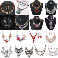 Statement Charm Women Pendant Chain Choker Chunky Bib Necklace Fashion Jewelry