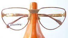 Glasses Frames Enrico Coveri Ladies Metal Large Vintage Brown Golden Size M