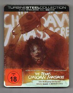 The Texas Chainsaw Massacre - 4K UHD + 2D Blu-ray Steelbook - NEW/SEALED