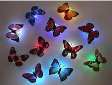 8 packs LED Fiber Optic Lamp Butterflies Night Light Butterfly Decoration