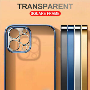CLEAR CASE For iPhone 12 11 Pro Max Mini XS XR SE X 8 7 Plating Silicone Cover