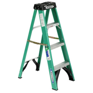 New 4 ft. Fiberglass Step Ladder with 225 lb. Load Capacity Type II Duty Rating
