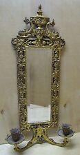 Victorian B&H BRADLEY & HUBBARD Dauphin Mirror Candlesticks Cast Iron Brass