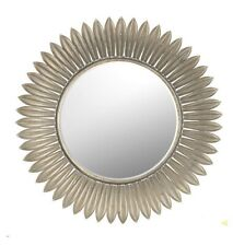 Unique Vintage Sun Leaf Feather Round Mirror