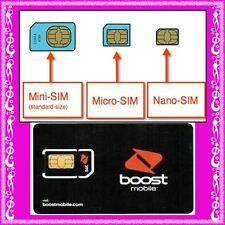 BOOST ◉$10 Credit Prepaid SIM CARD◉Calls Texts & Net ◉Regular Micro or Nano◉Oz
