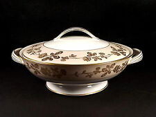 Noritake 5491 Covered 9 in Round Vegetable Bowl Lid Moriage Gold Flowers Trim