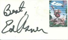 ED ASNER MARY TYLER MOORE BOLDLY SIGNED CARD