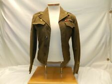 WW2 US ARMY IKE JACKET 9TH FIELD ARMY PVT IST CLASS W/ PATCHES RIBBONS CAP