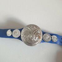 WWE/WWF Smackdown Blue Tag Team Champion Belt For Figures 2011 Mattel