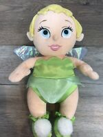Disney Babies Tinker Bell Tinkerbell Fairy Figure Plush Stuffed Animal Doll Toy