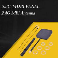 5.8G 14dBi Panel 2.4G 3dBi Upgrade Extended Range Antenna for Hubsan H501S