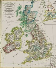 163 año vieja mapa United Kingdom Anglican Church in the middleage 1854