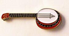 METALLO SMALTO SPILLA BADGE Banjo per giocare MUSICA MUSICISTA STRINGS chitarra