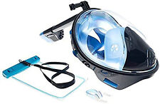 ABTECH Snorkel Mask, Full Face, Gopro Compatible, 180 Panoramic View, Anti Fog L