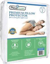 Premo Guard Pillow Protector 2 Pack - Standard Size - Premium - Hypoallergenic -