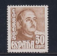 ESPAÑA (1948/54) NUEVO SIN FIJASELLOS MNH - EDIFIL 1022 (50 cts) FRANCO - LOTE 1