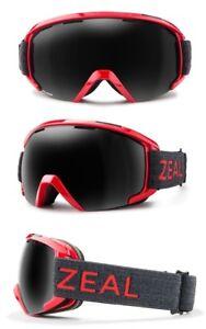 NEW Zeal Slate Redstone Red Polarized Mens OTG Ski Snowboard Goggles Msrp$200