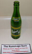 vintage UPPER 10 nehi GREEN GLASS BOTTLE soda -- 10 oz -- RARE