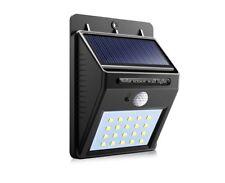 20 DEL Energie Solaire Sans Fil Capteur PIR de + CD Night Light Outdoor Garden Wall