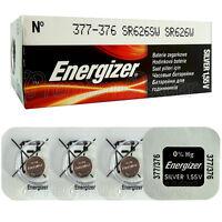 4 x Energizer 377 376 batteries Silver Oxide 1.55V SR66 SR626SW Watch