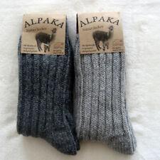 2 Pair of Men's Socks Thick Wool Socks 40%Alpaca 52%Wool Grey 39 To 46