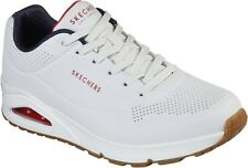 Skechers Mens Uno Stand On Air Lace Up Sports White/Navy/Red