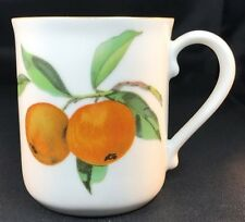 "Royal Worcester Evesham Gold Mug Peach/Currant 3 5/8"""