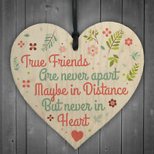 Friendship Sign Best Friend Plaque Shabby Chic Gift Wood Hanging Heart Thank You