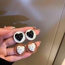 New listing Simple Korean Style Love Shape Earrings Heart Stud Earrings Women Earrings