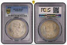 1870 Netherlands 2.5 Gulden PCGS MS63