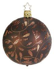 """Delights Dark Brown Matte"" 6cm Glass Ornament w/Box by Inge Glas Germany (#300)"