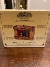 NEW ULTRA RARE Mr. Christmas Mini Nutcracker Suite Moving Ballet Stage Music Box