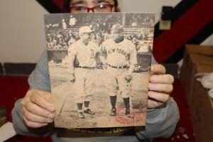 Vintage 1930s Babe Ruth Yankees Louisville Slugger Baseball Bat Promo Photo Sign