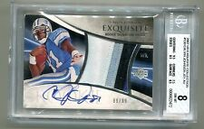2007 EXQUISITE COLLECTION #130 CALVIN JOHNSON PATCH AUTO RC 89/99 BGS 8 F6622472