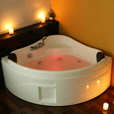 Whirlpool Corner Bathtub Double End Massage With LED Lights System 2018 NEW 6143