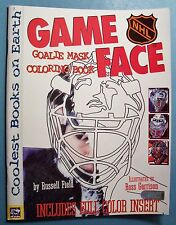 NHL GAME FACE GOALIE MASK COLORING BOOK - UNCOLORED - INSERTS COMPLETE