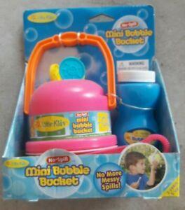 🎉 Little Kids Mini Bubbler Bucket No Spills New Pink Bubble Maker Summer Fun