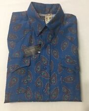Vtg Pan Handleslim Western Shirt Made In Usa 16 1/2 X 34 Paisly Nwt Dead Stock