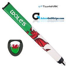 TourMARK Wales Jumbo Pistol Putter Grip - White / Green / Red + Free Tape