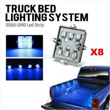 Truck Accessories 8x Truck Bed LED Lighting Kit Pickup Strip Accessory Blue Wire