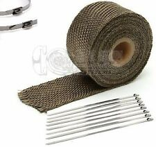 "1"" x 25' Motorcycle Protection Header Exhaust Heat Tape Wrap  - Titanium"