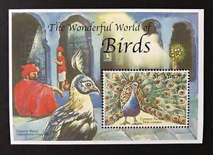 ST VINCENT COMMON PEAFOWL SOUVENIR SHEET 2000 MNH PEACOCK STAMPS BIRDS WILDLIFE